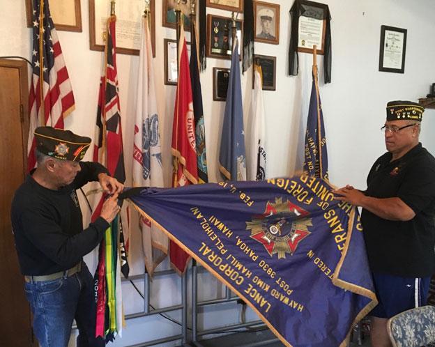 2018 August 3 Our esteemed Quartermaster Fa'amanu 'Nu' Teofilo and Senior Vice Commander Archie Hapai.