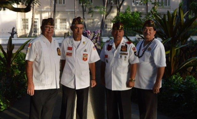 2018 February 7 CDR & staff at the Korean & Viet Nam Memorial
